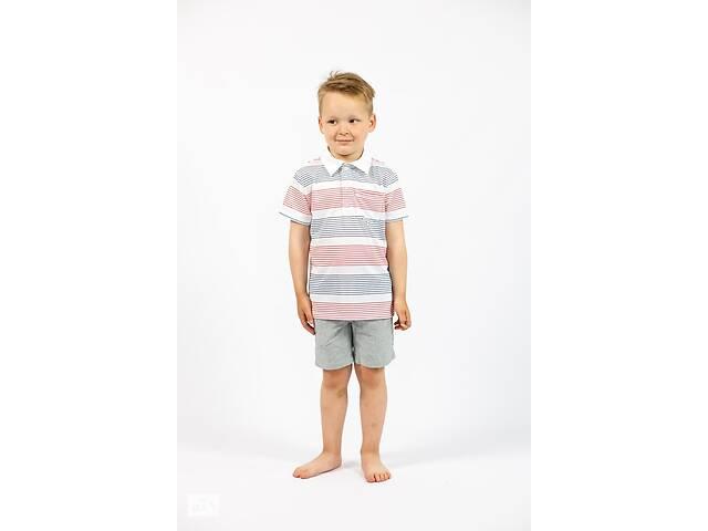 бу Детская белая футболка поло для мальчика в полоски Cat& Jack (США) в Ивано-Франковске