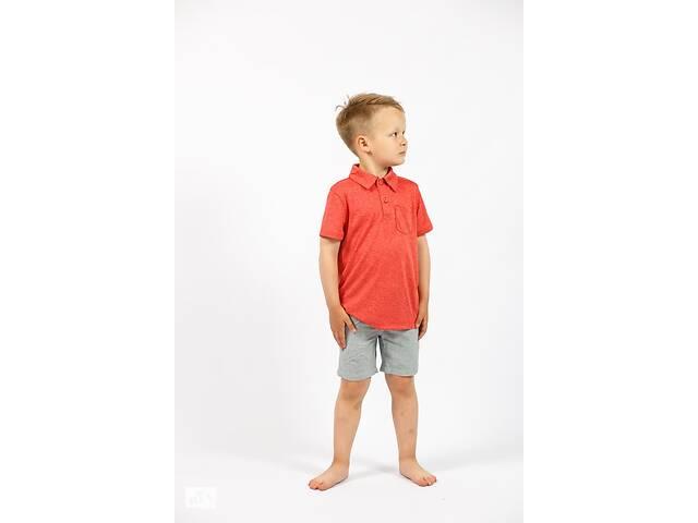 Детская футболка поло на мальчика красный меланж Cat & Jack (США)- объявление о продаже  в Ивано-Франковске