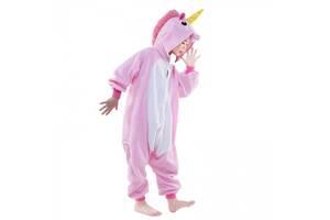 Детская пижама кигуруми Единорог (розовый) 140 см