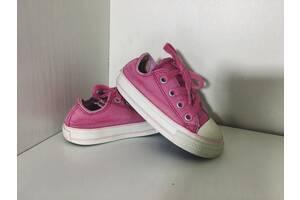 Детские кеды Converse All Star Конверс 21рр 12,5см идеал оригинал розовые