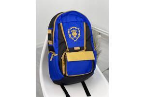 Детский городской синий рюкзак Близзард World of Warcraft Alliance Brizzard