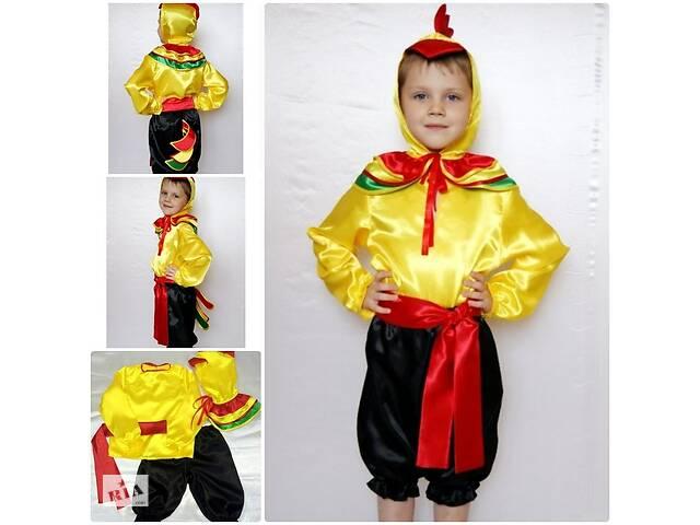 Детский карнавальный новогодний костюм Петушок 2, рост 95-120, возраст 3-6