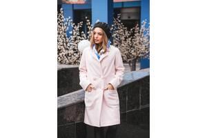 Двубортное пальто New Classic J-2009-7. Розовый. Размер 42