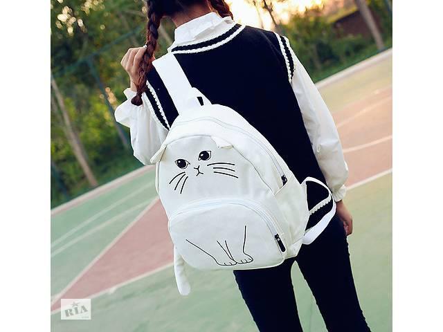 купить бу Эксклюзив, Молодежный рюкзак с уникальным принтом кота в Харькове