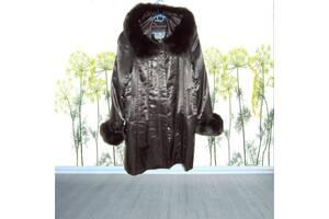 Fulenpak Розкішне жіноче напівпальто тепле підкладка кролик чорний Туреччина