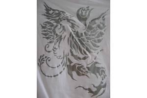 футболка белая х/б, ж. икс-с, С, серебристый феникс, торг
