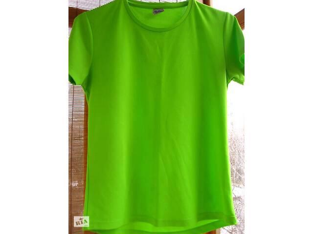 купить бу футболка С неоновая зелёная сигнальная спортивная велосипедная, торг в Запорожье