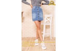 Голубая джинсовая юбка на пуговицах 129R022-115