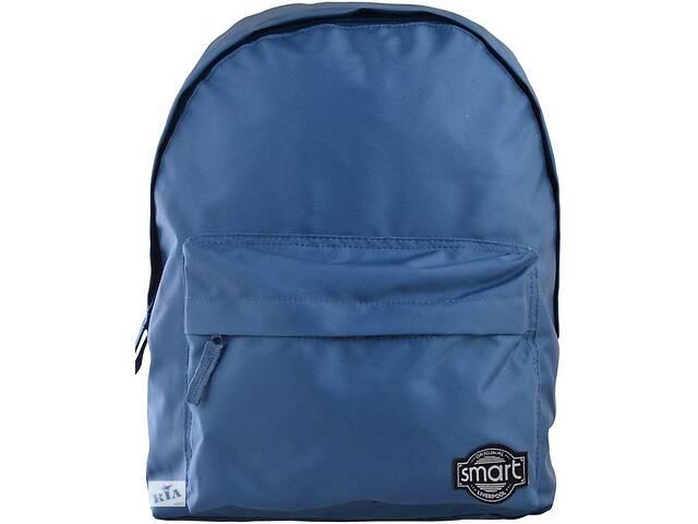купить бу Городской мужской рюкзак Smart Blue steel на 10 л синий в Киеве