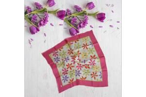 Jim Thompson оригинал 54/56 см Красивый платок из саржевого шелка в цветы Таиланд