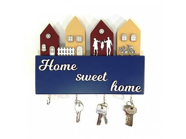 Ключница Home sweet home деревянная Мастерская мистера Томаса 28см х 30 см х 3 см сосна