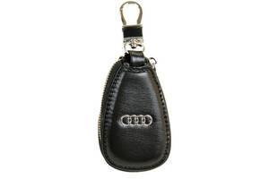 Ключница кожаная Авто F633 Audi, черная