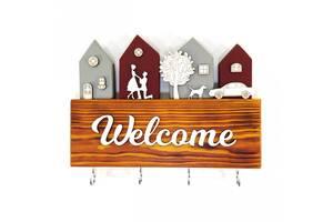 Ключница Welcome деревянная Мастерская мистера Томаса 28см х 30 см х 3 см сосна