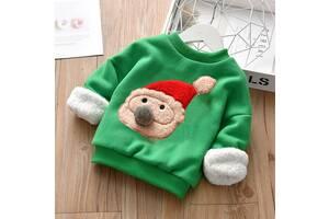 Кофта детская утепленная CR santa зеленая