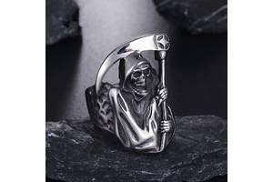 Кольцо,печатка,перстень Смерть с косой (панк,гот,винтаж,байкер)