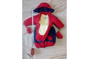 Комбинезон зимний на малыша 0-5 месяцев на молнии