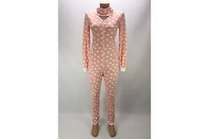 Комбинезон пижама Кигуруми женский на молнии 48-50 р. в горох Розовый (zolk_G-9593-48-50)