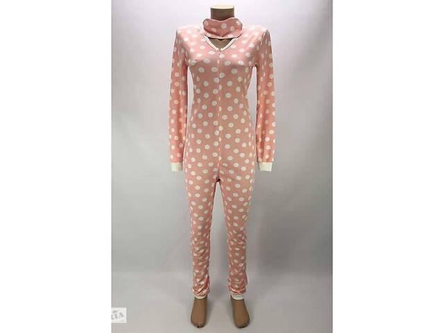 продам Комбинезон пижама Кигуруми женский на молнии 48-50 р. в горох Розовый (zolk_G-9593-48-50) бу в Киеве