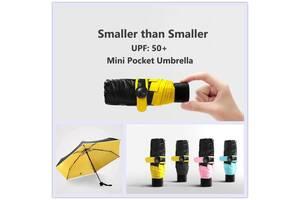 Компактный складной зонт Капсула