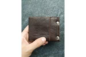 Коричневый кожаный кошелек ручной работы