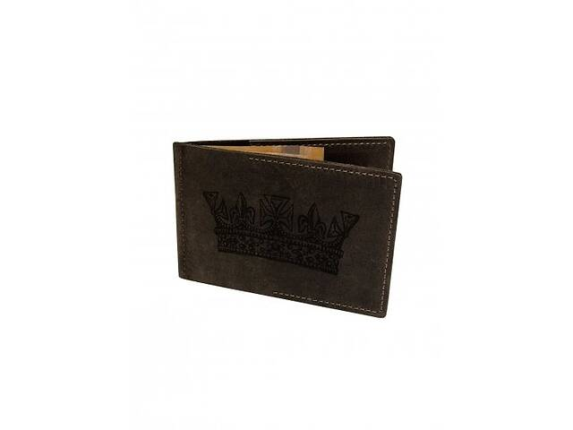 купить бу Кошелек-зажим Король М17 коричневый SKL47-178123 в Киеве