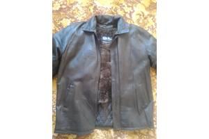 Кожаная куртка с съемным мехом 58-60 размер.