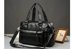 Кожаная мужская сумка Экокожа Черный