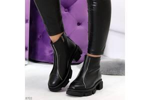 Кожаные демисезонные ботинки, женские ботинки 38,40р