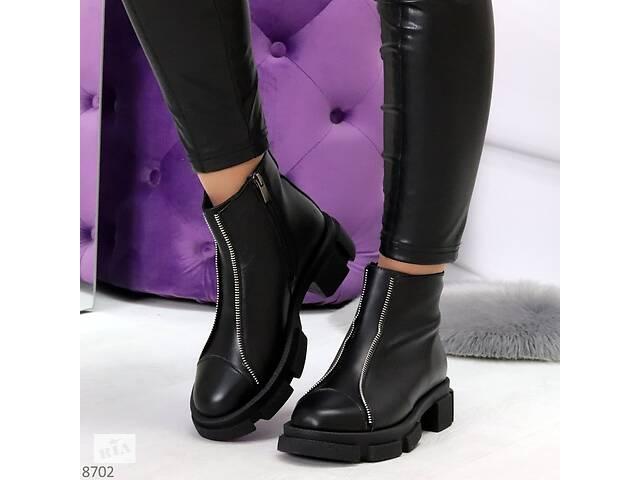 купить бу Кожаные демисезонные ботинки, женские ботинки 38,40р в Ровно