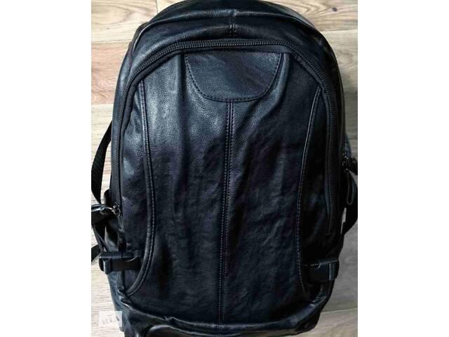 продам Кожаный мужской рюкзак (кожа искусственная) женский рюкзак бу в Дубно