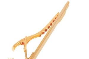 Красивая заколка для галстука S.Quire золотистая