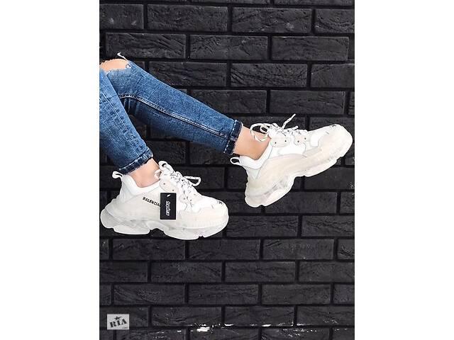 купить бу Кросівки Balenciaga Triple S White Clear Sole стильнийльвів Стильний Львів в Львове