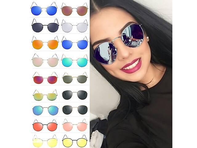 купить бу Круглые женские солнцезащитные очки в Великой Березовице