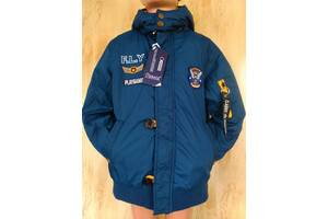 Куртка Бомбер, демисезонная для мальчиков весна осень 9-13 лет 134-164
