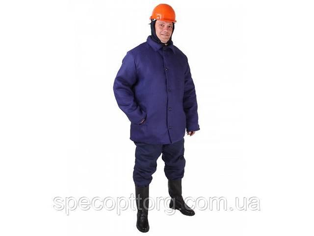 Куртка зимняя Диагональ ватная синяя