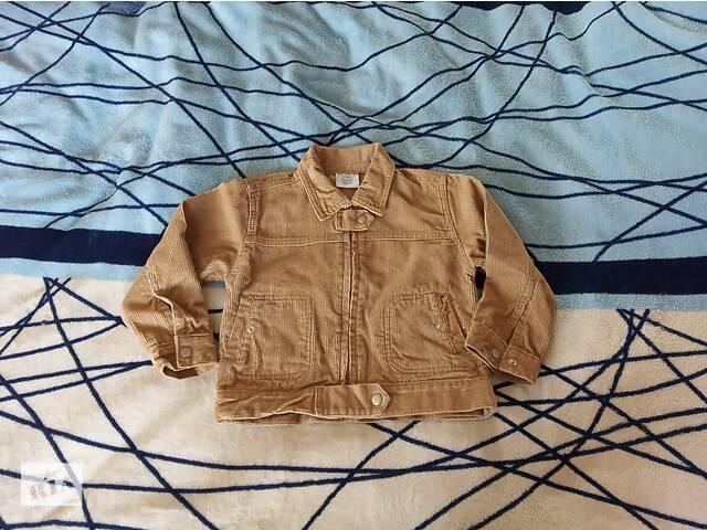 купить бу Курточка-пиджак микровельвет для мальчика 2 года (б/у) в Доброполье
