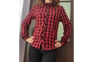 Модная рубашка в красно-чёрную клетку