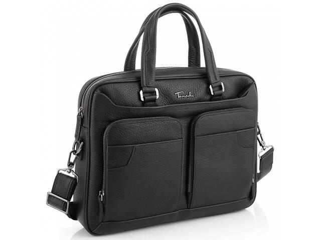 Мужская кожаная сумка для ноутбука Tavinchi, черная- объявление о продаже  в Киеве