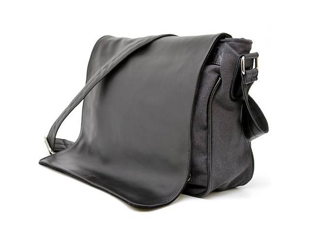 купить бу Мужская сумка через плечо микс кожи и холщевой ткани канвас TARWA  TRWGG-1047-3md в Киеве