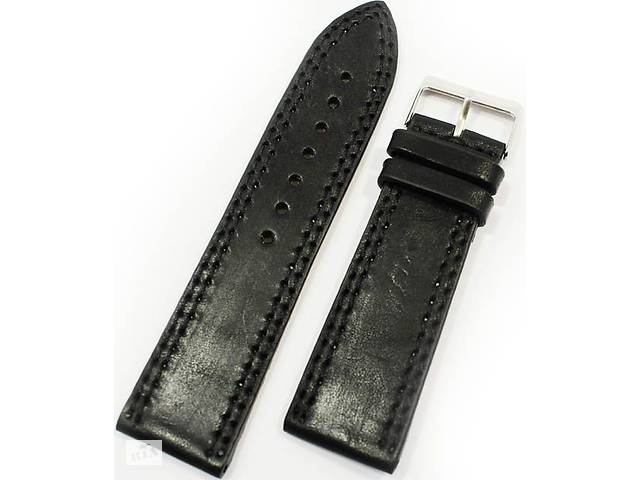 Мужской качественный ремешок для часов из натуральной кожи Mykhail Ikhtyar 8016 черный