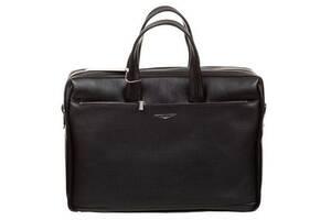 Мужской портфель из натуральной кожи Giudi черный