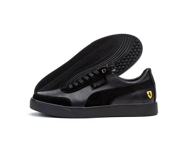 купить бу Мужские кожаные кроссовки Puma Ferrari Smash Black в Харькове
