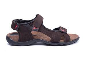 Мужские кожаные сандалии E-series Active Drive Brown (реплика)