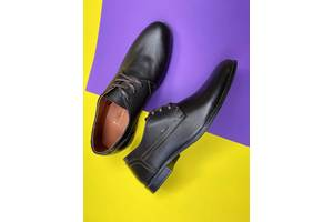Мужские туфли кожаные весна/осень коричневые Yuves М111