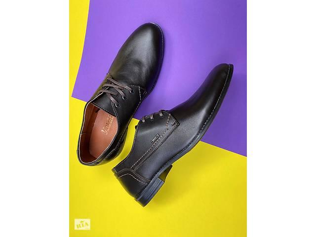 Мужские туфли кожаные весна/осень коричневые Yuves М111- объявление о продаже  в Хмельницком