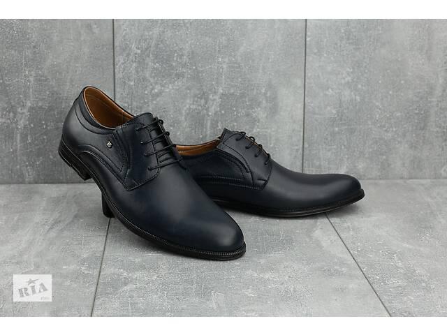 купить бу Мужские туфли кожаные весна/осень синие Stas 330-24-91 в Хмельницком