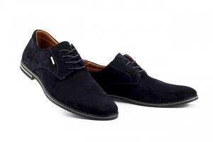 Мужские туфли замшевые весна/осень синие Yuves М5 (Trade Mark) (43)