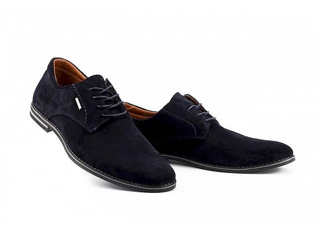 бу Мужские туфли замшевые весна/осень синие Yuves М5 (Trade Mark) (43) в Одесі