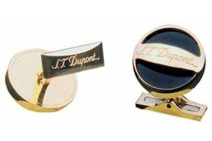 Мужские запонки Dupont Script золотистые