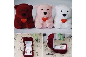 Міні коробочка для ювелірних виробів пропозицію руки і серця